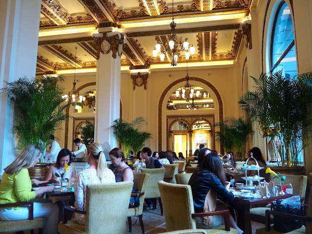 Interior of The Lobby restaurant at The Peninsula, Hong Kong