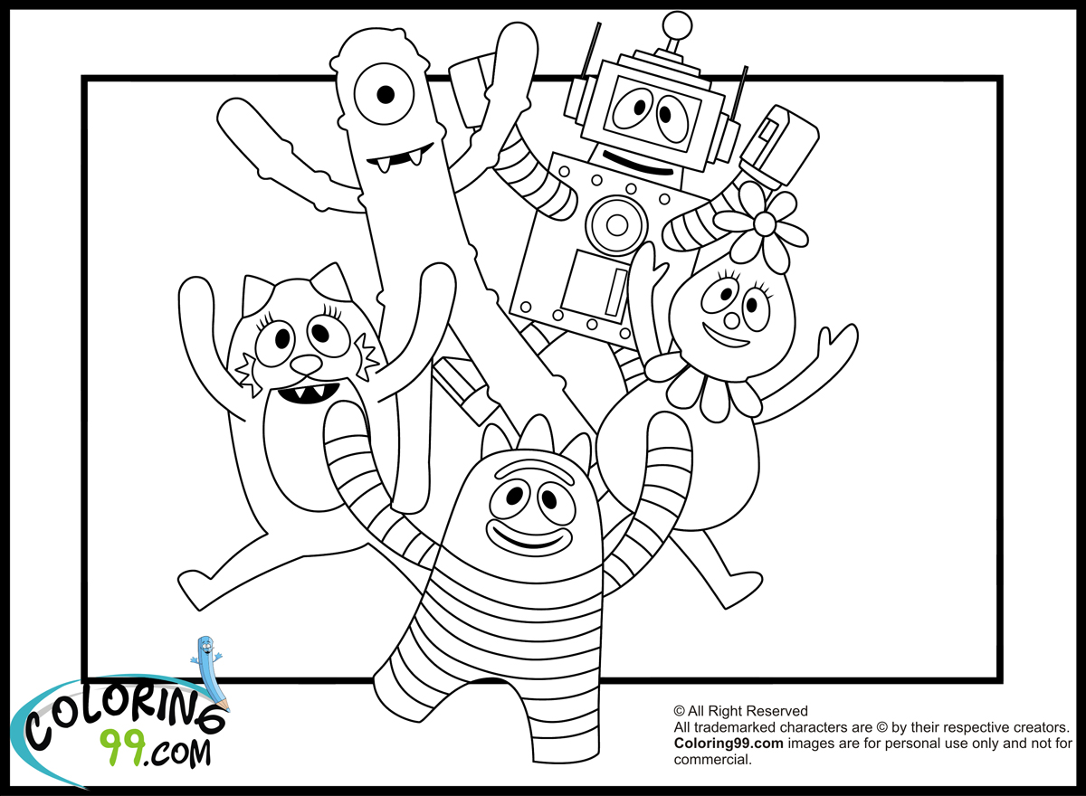 yogabbagabba coloring pages - photo #29
