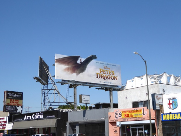 Disney Petes Dragon movie billboard