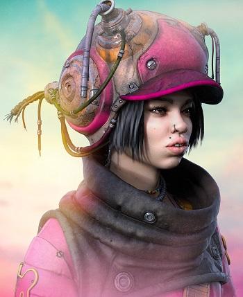 """OYOH""- OOMOU characters by Andy Lee | imagenes chidas de arte digital, personajes de novela grafica, comic | fantasia futurista"