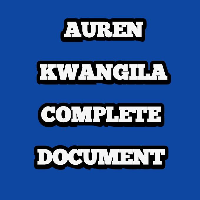 AUREN KWANGILA COMPLETE DOCUMENTT