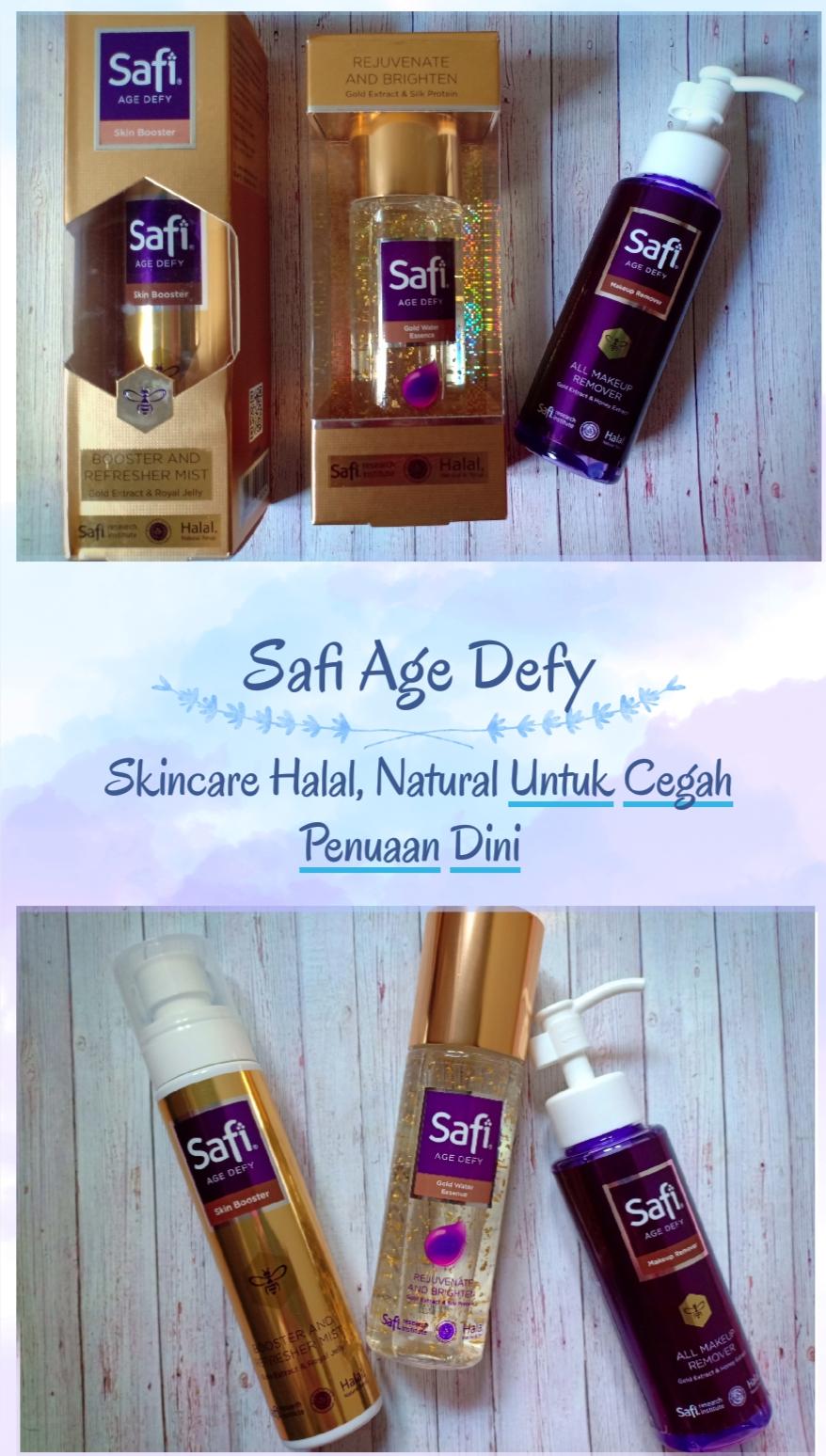 Safi Age Defy : Skincare Halal Natural Teruji Cegah