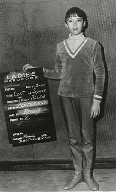 Angela Cartwright wardrobe test for Lost in Space randommusings.filminspector.com