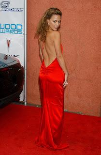 Josie Maran Showing Her Bare Back