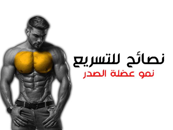 نصائح للتسريع نمو عضلة الصدر