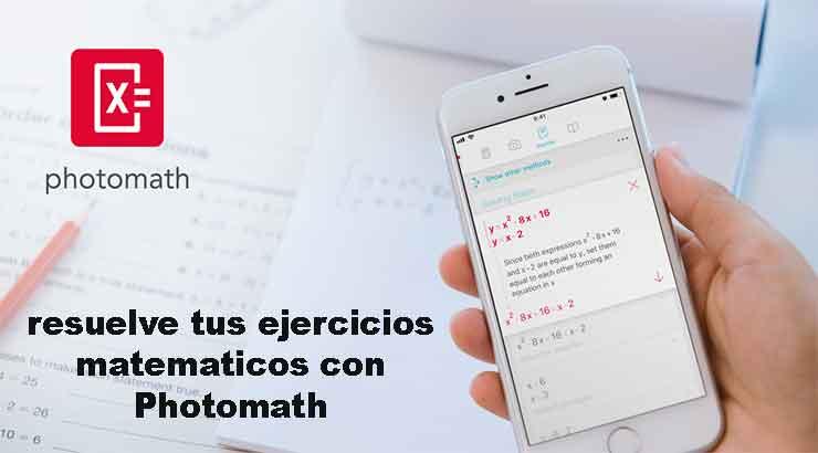 Cómo resolver problemas matemáticos con Photomath