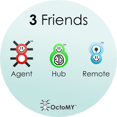 3 Friends - Agent + Hub + Remote. OctoMY™ tiers.