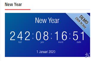 Tampilan Countdown Menggunakan Website