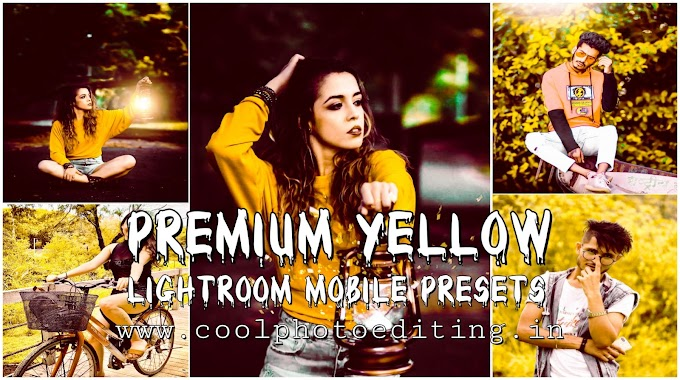 Yellow Lightroom Mobile presets|Premium Lightroom Mobile preset's