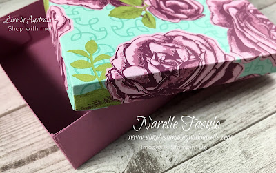 Buy 3 get the 4th FREE - Until the end of October - Make gorgeous gift boxes with our beautiful patterned paper - https://www3.stampinup.com/ECWeb/CategoryPage.aspx?categoryid=3000070&dbwsdemoid=4008228 - Simply Stamping with Narelle
