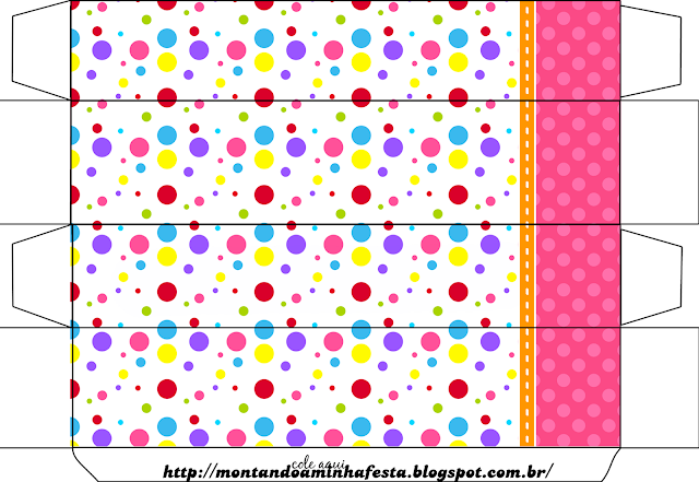 Colored Dots for Girls Free Printable Box.
