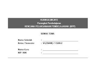 RPP Kelas 6 SD/MI K13 (Semua Tema)