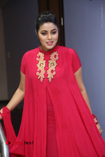 Actress Poorna Latest Stills in Red Dress at Rakshasi First Look Launch  0204.JPG