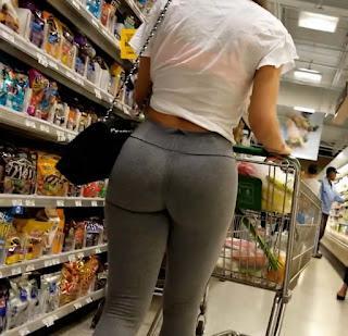 Sexy mujer leggins entallados