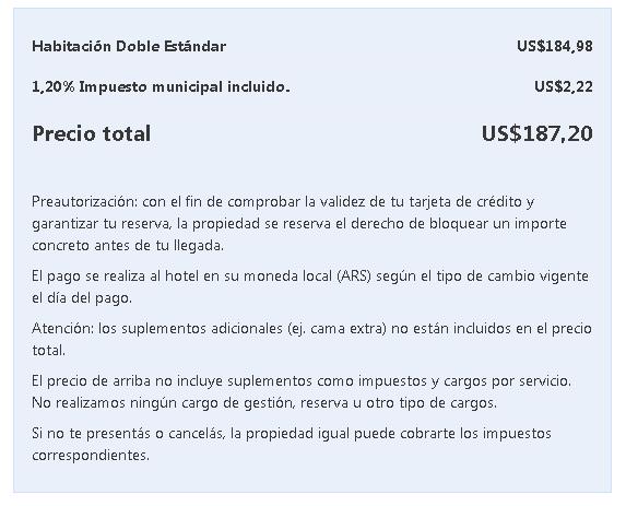 ¿Booking cobra el 30% dentro de Argentina 2020 impuesto PAIS