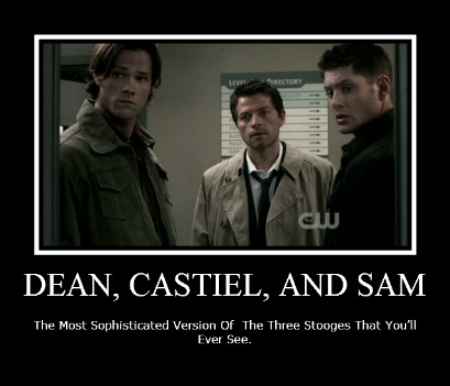 Love these pics  So not enough Dean  Sam  Cass for a girl like me  I    Supernatural Sam And Dean Funny Moments