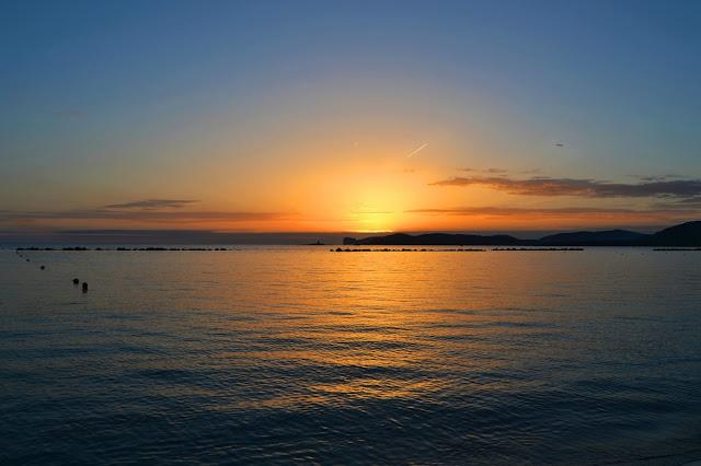Mare di Alghero al tramonto