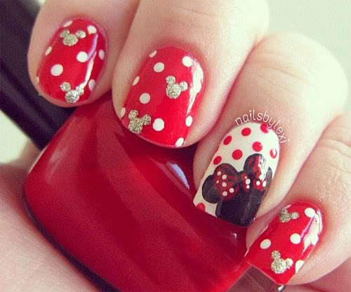 unas disenos minnie mouse