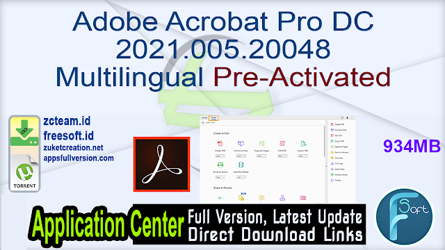 Adobe Acrobat Pro DC 2021.005.20048 Multilingual Pre-Activated_ ZcTeam.id