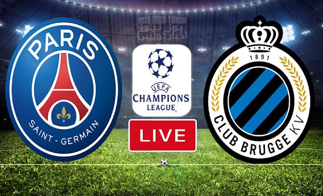 بث مباشر   مشاهدة مباراة كلوب بروج ضد باريس سان جيرمان في دوري أبطال أوروبا