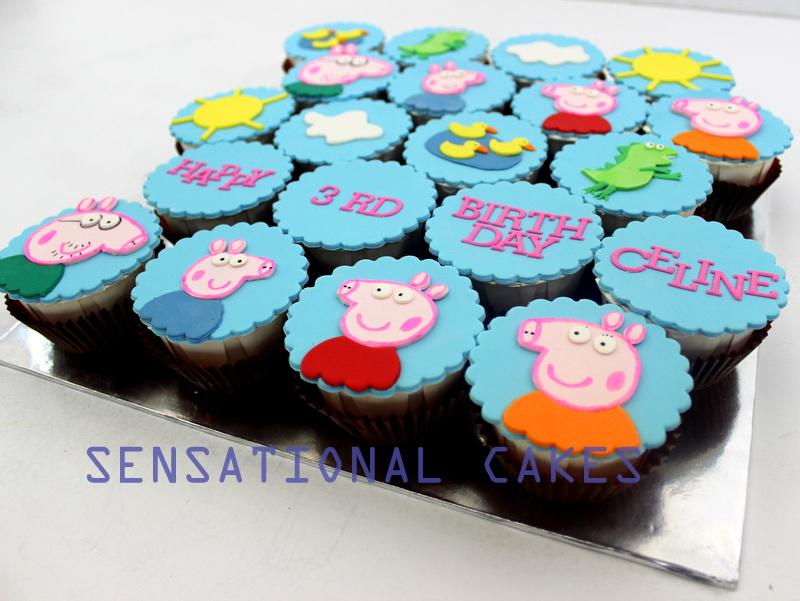 The Sensational Cakes Cupcakes Peppa Pig Cake Singapore Peppa