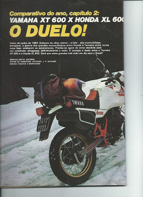 MS03 - Yamaha XT600 x Honda XL600 - O DUELO
