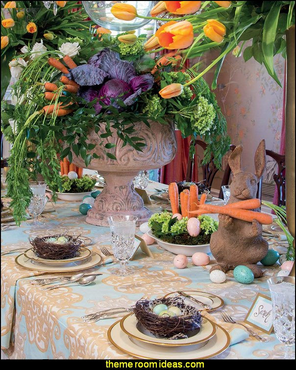 easter entertaining easter bunny table bunny rabbit party easter