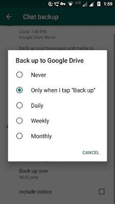 WhatsApp backup options to explore