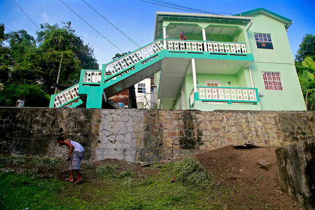 brightly coloured Grenada house