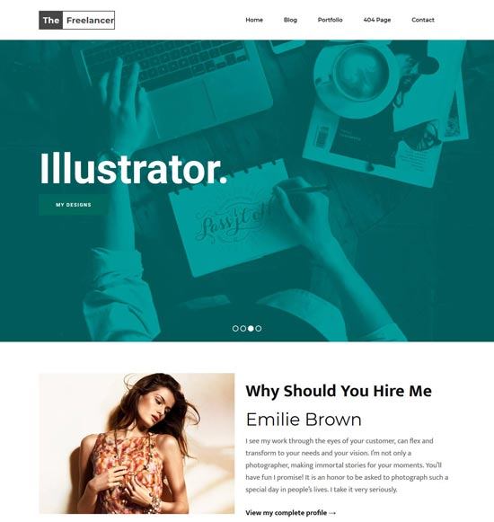 Freelancer Blogger Theme