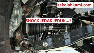 shock depan mobil bunyi jedak jeduk