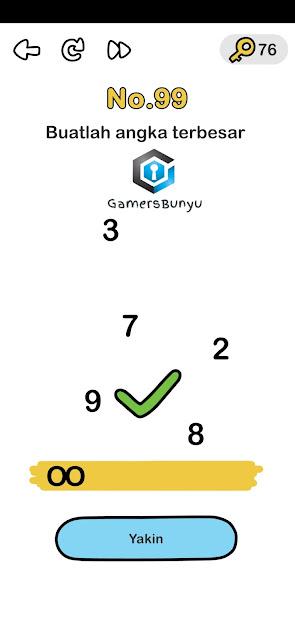 Buatlah Angka Terbesar : buatlah, angka, terbesar, Kunci, Jawaban, Brain, Buatlah, Angka, Terbesar