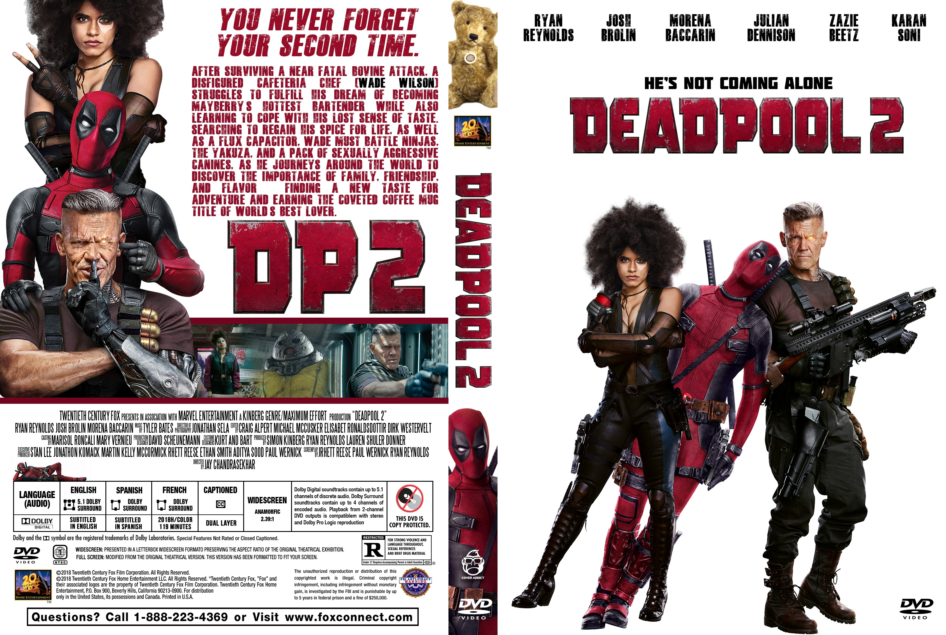 300 Full Movie >> Deadpool 2 DVD Cover - Cover Addict - DVD and Bluray Covers