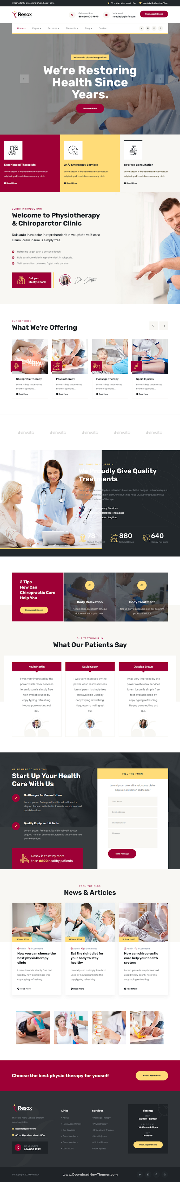Physiotherapy Bootstrap Template