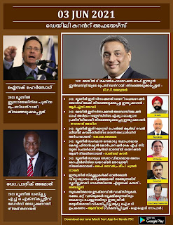 Daily Malayalam Current Affairs 03 Jun 2021