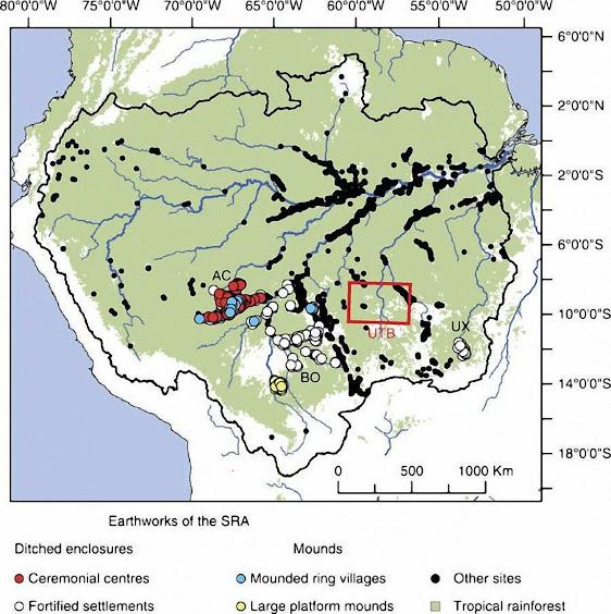 Na bacia amazônica poderia haver 1300 vestígios de cidades grandes e pequena