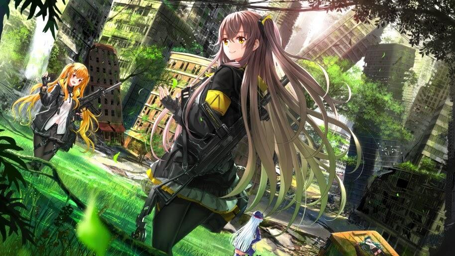 Anime, Girls Frontline, UMP45, UMP9, Rifle, 4K, #6.1069