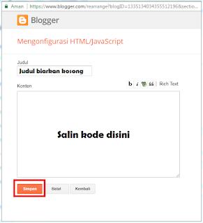 Cara Memasang Kotak Pencarian Search Box di Blog