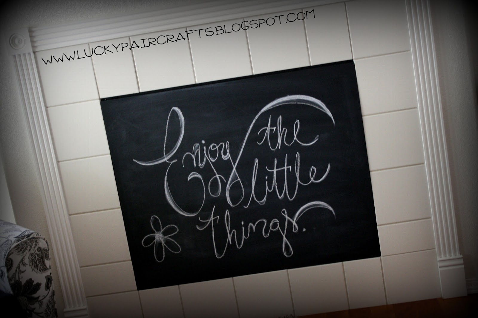 Lucky Pair Crafts Chalkboard Fireplace Baby Proofing At
