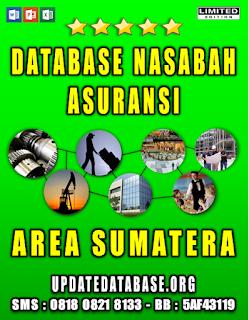 Jual Database Nasabah Asuransi Sumatera