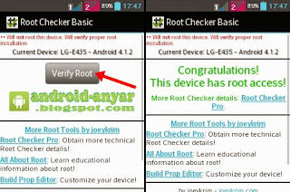 Verify Root LG L3 E435 Dual
