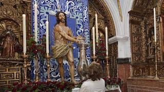 El Cristo de la Columna de San Juan de Dios de Cádiz se traslada a Madrid para una exposición