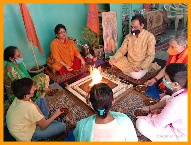 श्री राम जन्मभूमि - भव्य राम मंदिर के निर्विघ्न निर्माण एवम शुभारम्भ हेतु दक्षिणी दिल्ली में हुआ यज्ञ
