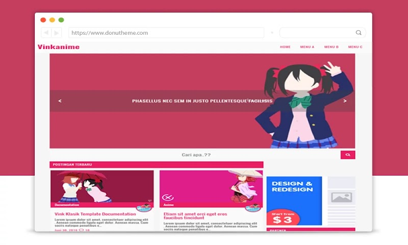 Vink Klasik Anime Blogger Template - Responsive Blogger Template