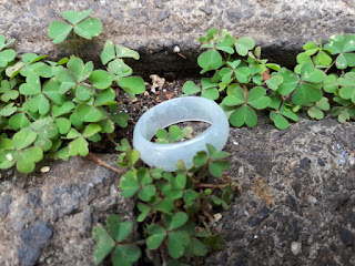 Batu Permata Cincin White Jade Type A Natural JDT016 Harga Terjangkau