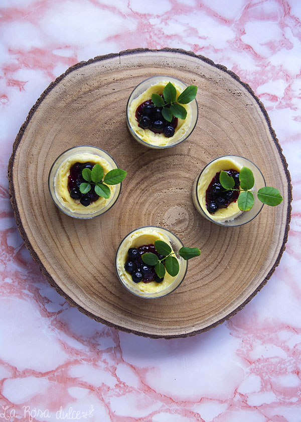 Mini cheesecakes con frutos rojos #microondas #singluten #sinlactosa