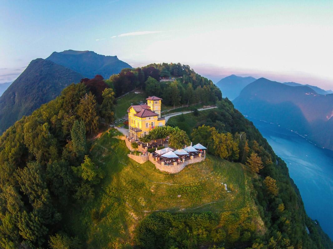 Гора Монте-Бре в Лугано, Швейцария