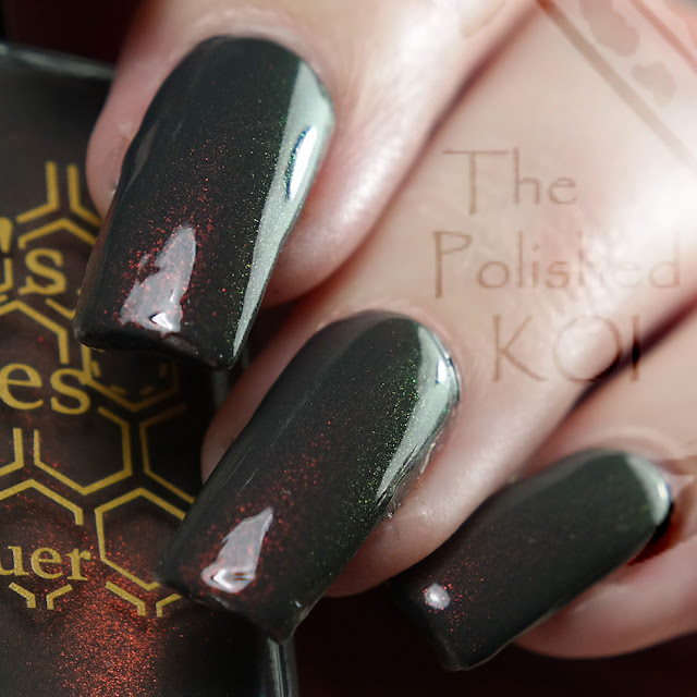 Bee's Knees Lacquer - Cyberdemon Charcoal