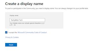 Create a Display Name