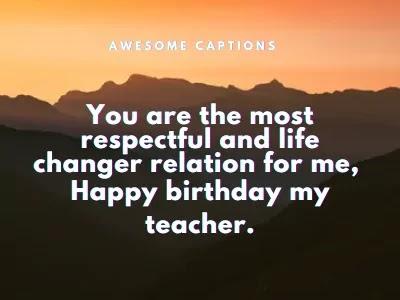 happy birthday to my teacher